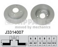 Disc frana NIPPARTS J3314007