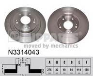 Disc frana NIPPARTS N3314043