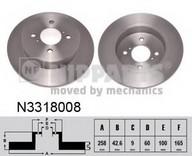 Disc frana NIPPARTS N3318008