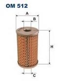 Filtru hidraulic, sistem directie FILTRON OM512