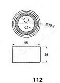 Mecanism tensionare, curea distributie ASHIKA 45-01-112