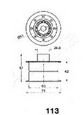 Mecanism tensionare, curea distributie ASHIKA 45-01-113