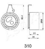Mecanism tensionare, curea distributie ASHIKA 45-03-310
