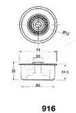 Mecanism tensionare, curea distributie ASHIKA 45-09-916