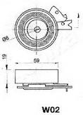 Mecanism tensionare, curea distributie ASHIKA 45-0W-002