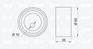 Rola intinzator, curea distributie IPD 14-0396