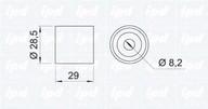 Rola ghidare/conducere, curea distributie IPD 15-0078
