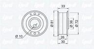 Rola intinzator, curea distributie IPD 14-0103