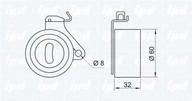 Rola intinzator, curea distributie IPD 14-0186