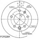 Disc frana BERAL BCR228A