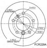 Disc frana BERAL BCR229A