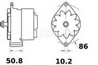 Generator/alternator MAHLE ORIGINAL MG 233