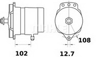 Generator/alternator MAHLE ORIGINAL MG 131