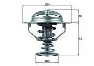 Termostat, lichid racire MAHLE ORIGINAL TX 114 82D