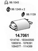 Toba esapament finala ASSO 14.7061