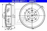 Tambur frana ATE 24.0222-8017.1