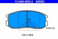 Set placute frana, frana disc ATE 13.0460-5953.2