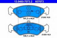 Set placute frana, frana disc ATE 13.0460-7073.2