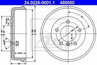 Tambur frana ATE 24.0226-0001.1