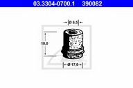 Capac, rezervor lichid frana ATE 03.3304-0700.1