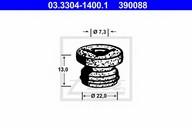 Capac, rezervor lichid frana ATE 03.3304-1400.1