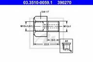 Adaptor, conducte frana ATE 03.3510-0059.1