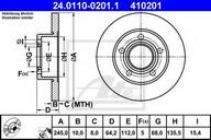 Disc frana ATE 24.0110-0201.1