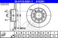 Disc frana ATE 24.0110-0261.1