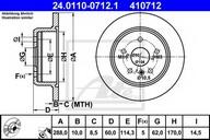 Disc frana ATE 24.0110-0712.1