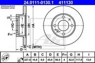Disc frana ATE 24.0111-0130.1