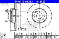Disc frana ATE 24.0112-0122.1