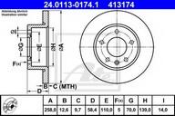 Disc frana ATE 24.0113-0174.1