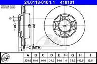 Disc frana ATE 24.0118-0101.1