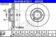 Disc frana ATE 24.0120-0123.1
