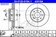 Disc frana ATE 24.0120-0184.1