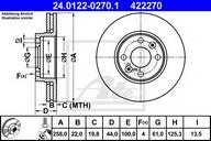 Disc frana ATE 24.0122-0270.1