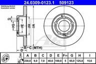 Disc frana ATE 24.0309-0123.1