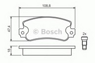 Set placute frana, frana disc BOSCH 0 986 424 098
