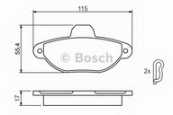 Set placute frana, frana disc BOSCH 0 986 461 119