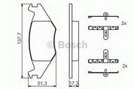 Set placute frana, frana disc BOSCH 0 986 468 890