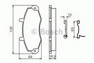 Set placute frana, frana disc BOSCH 0 986 494 292