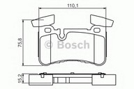 Set placute frana, frana disc BOSCH 0 986 494 411