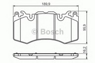 Set placute frana, frana disc BOSCH 0 986 494 440