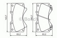 Set placute frana, frana disc BOSCH 0 986 494 449