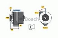 Generator/alternator BOSCH 0 986 031 000