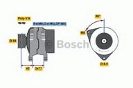 Generator/alternator BOSCH 0 986 039 510