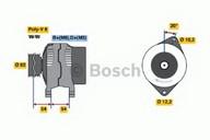 Generator/alternator BOSCH 0 986 040 671