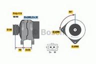 Generator/alternator BOSCH 0 986 040 870