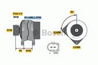 Generator/alternator BOSCH 0 986 041 910
