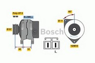 Generator/alternator BOSCH 0 986 081 060